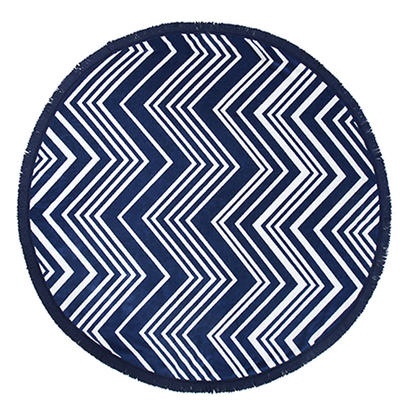 Zigzag Round Towel